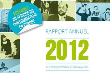 Couverture du rapport annuel 2012 du CEC.