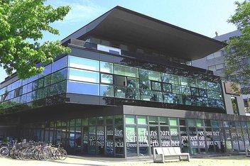 Vue sur le bâtiment du Centre Européen de la Consommation