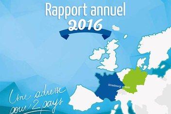 Couverture du rapport annuel 2016 du CEC.